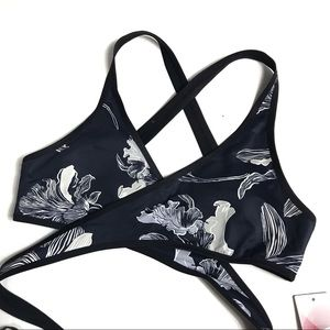 Athleta Fiore Wrap Bikini with Strappy Bottoms
